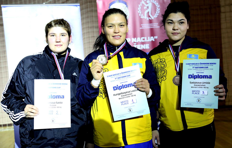 Ляззат Кунгейбаева завоевала золотую медаль на Кубке Наций