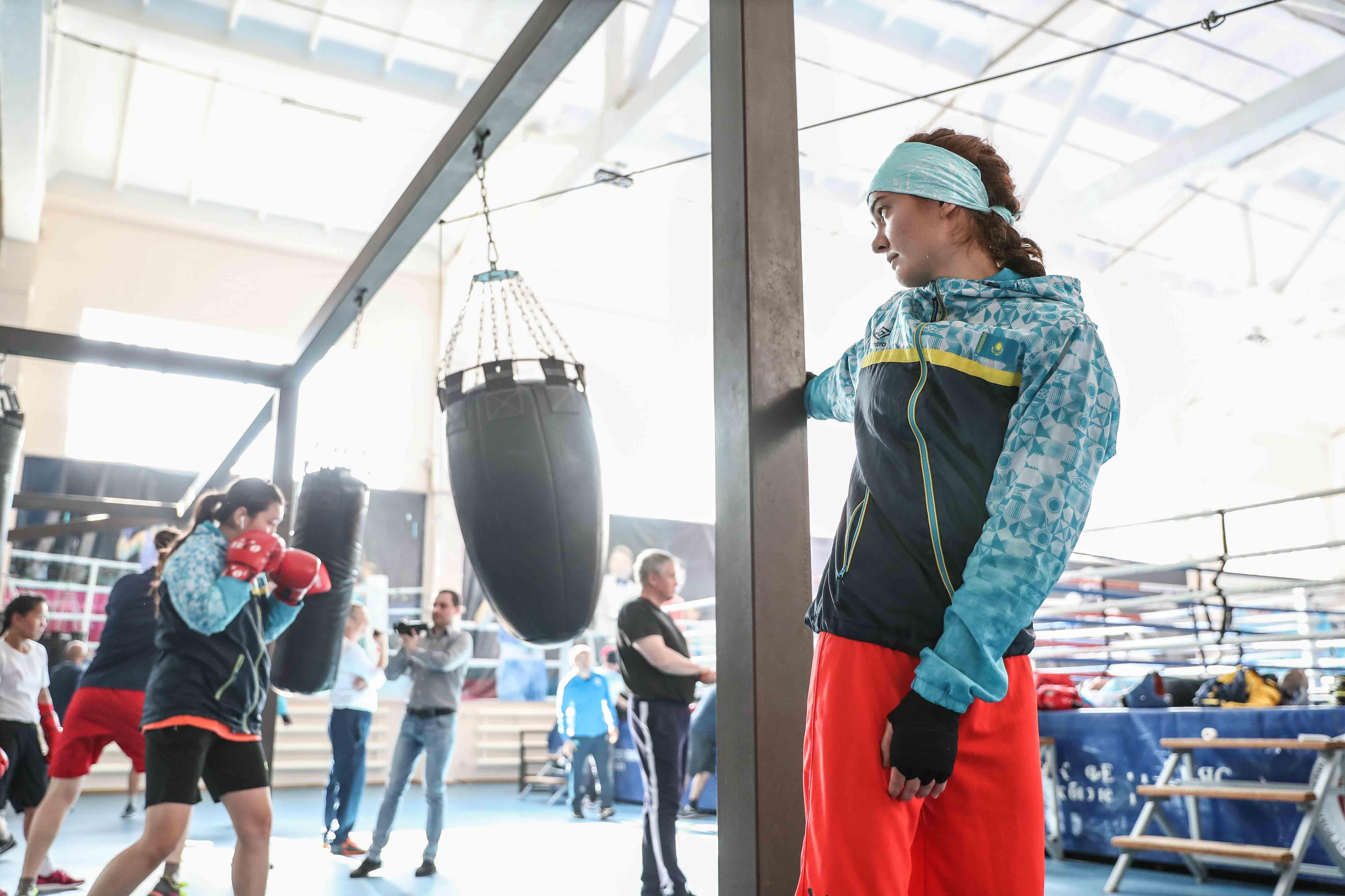 В Нур-Султане прошла открытая тренировка женской национальной сборной