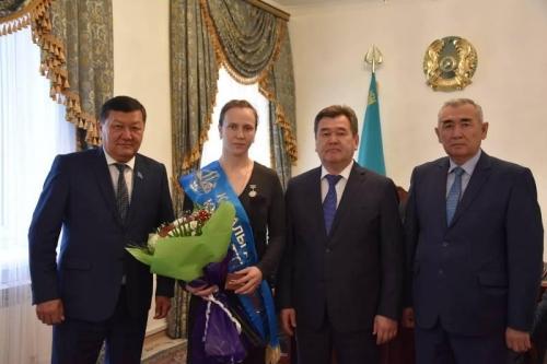 Призер Олимпиады Марина Вольнова стала почетным гражданином Казалы