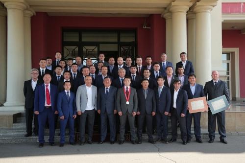 В Алматы наградили призеров чемпионата мира в Германии