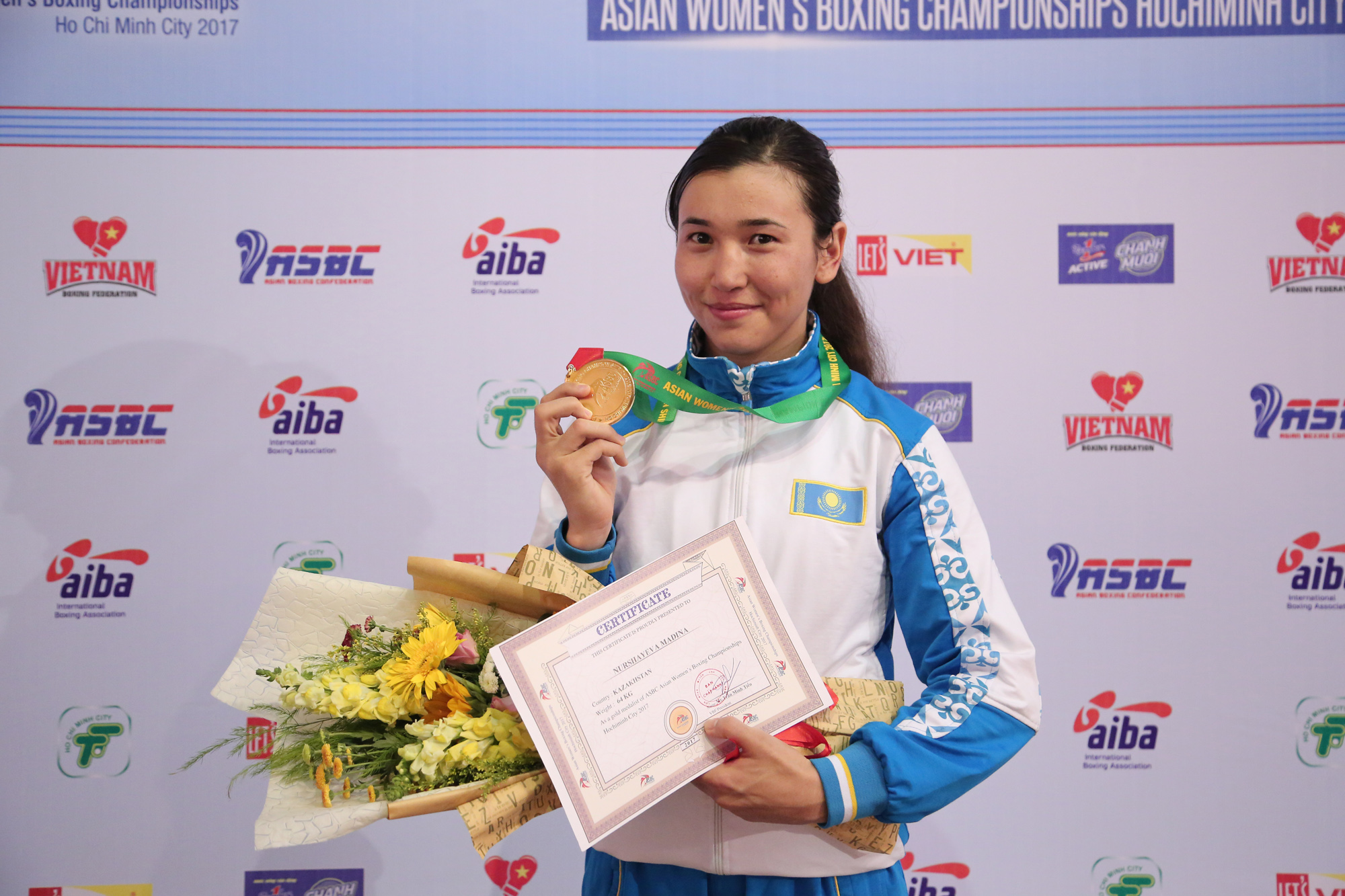 The women's national team of Kazakhstan has won six medals at the Asian Championships